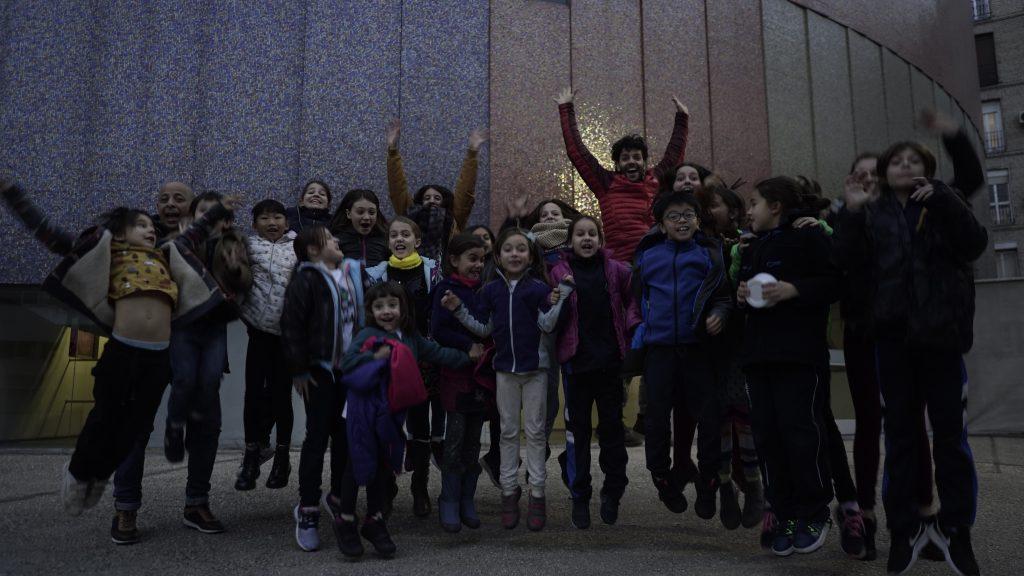 Fotografía de grupo en el Teatro Price